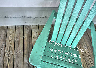 Photograph - Never Ever Quit Quote by Jamart Photography