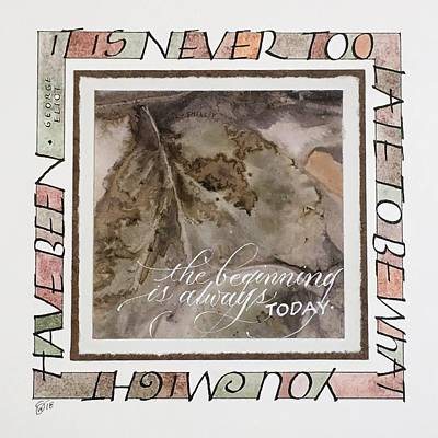 Never Too Late Art Print