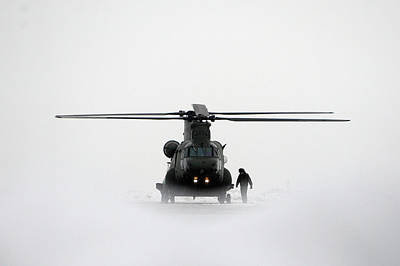 Photograph - New Chinook Mk3 Helicopters Arrive At by Dan Kitwood