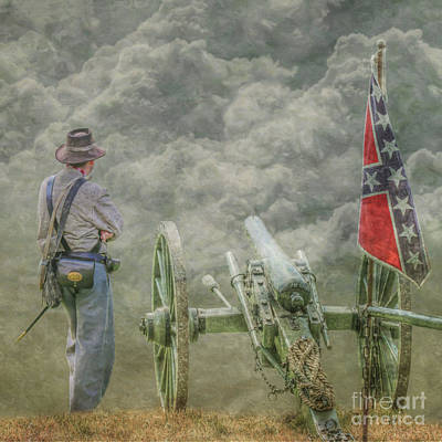 Digital Art - New Day Confederate Cannon by Randy Steele