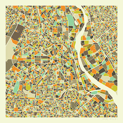 City Map Wall Art - Digital Art - New Delhi Map 1 by Jazzberry Blue