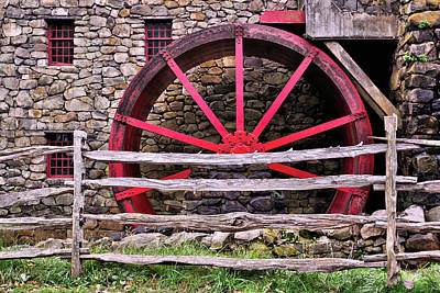 Photograph - New England Grist Mill by Luke Moore