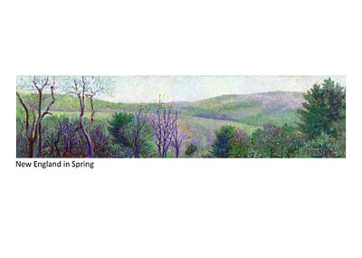Pastel - New England In Spring by Betsy Derrick