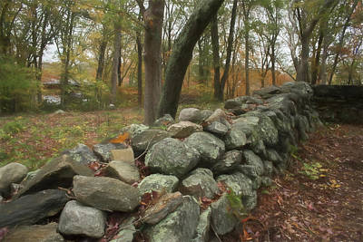 Photograph - New England Stone Wall 1 by Nancy De Flon