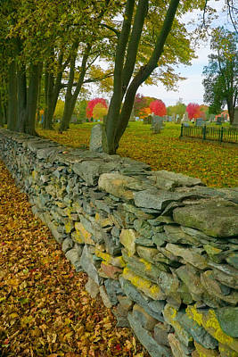 Photograph - New England Stone Wall 2 by Nancy De Flon