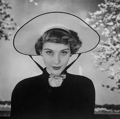 Photograph - New French Hat For Spring.  Photo By Ni by Nina Leen