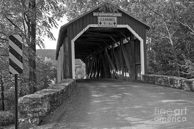 Photograph - New Germantown Bridge Under The Canopy Black And White by Adam Jewell