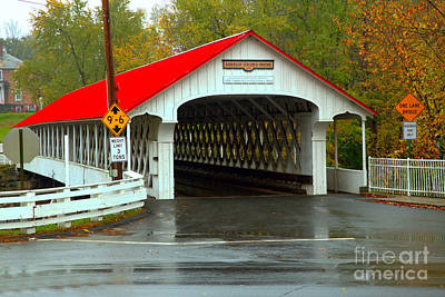 Photograph - New Hampshire Ashuelot Covered Bridge by Adam Jewell