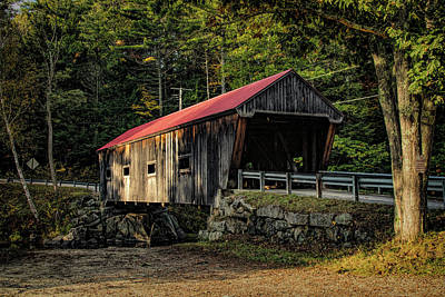 Photograph - New Hampshire Covered Bridge 12 by Jeff Folger