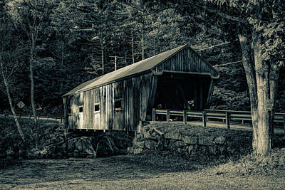 Photograph - New Hampshire Covered Bridge Tinted by Jeff Folger