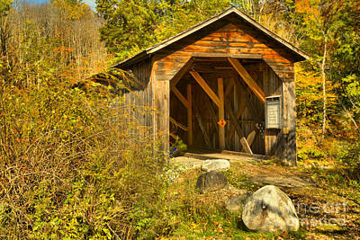 Photograph - New Hampshire Mcdermott Covered Bridge by Adam Jewell