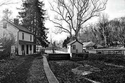 Photograph - New Hope Canal In Black And White by Bill Cannon