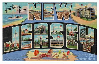 Photograph - New Jersey Greetings - Version 1 by Mark Miller