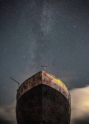Shipwreck Wall Art - Photograph - New Life Milkway  by Mark Mc neill