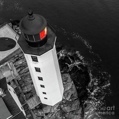 Photograph - New London CT Harbor Lighthouse by Petr Hejl PhotoFlight