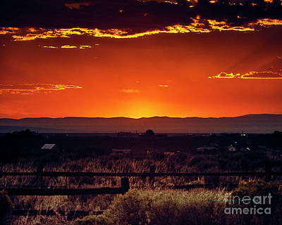 Photograph - New Mexico Sunset by Charles Muhle
