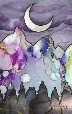 Mixed Media - New Moon by Mo T