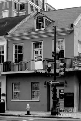 Photograph - New Orlean Black White Downtown Home  by Chuck Kuhn