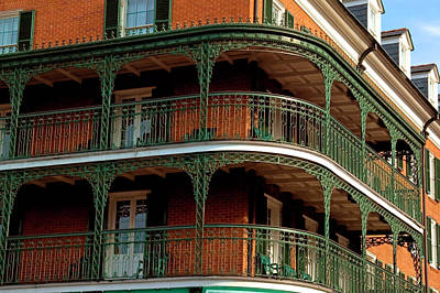 Balcony Photograph - New Orleans Balconies by Dhuss