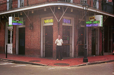 Photograph - New Orleans - Bourbon Street 2004 #47 by Frank Romeo