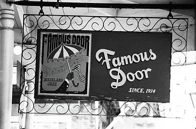 Photograph - New Orleans - Bourbon Street 2004 Bw #14 by Frank Romeo