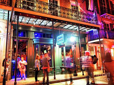 Photograph - New Orleans Bourbon Street Night Lights by John Rizzuto