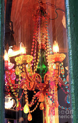 New Orleans Chandelier Colors Art Print