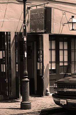 Photograph - New Orleans Cigar Factory 2004 Sepia by Frank Romeo