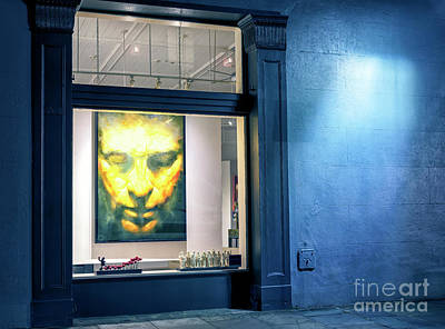 Photograph - New Orleans Face In Window At Night by John Rizzuto