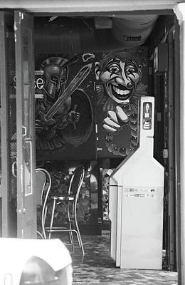 Photograph - New Orleans Shops 2004 #3 Bw by Frank Romeo