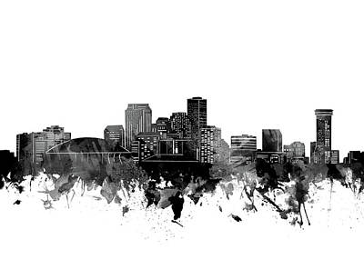 Abstract Skyline Royalty-Free and Rights-Managed Images - New Orleans Skyline Bw by Bekim M