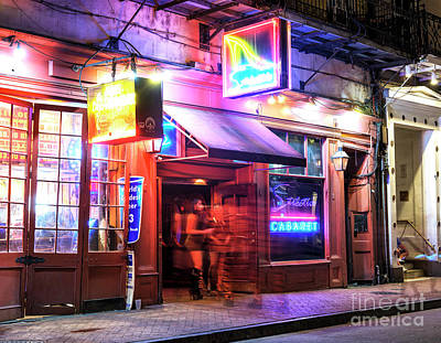 Photograph - New Orleans Stiletto's Cabaret At Night by John Rizzuto