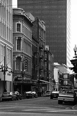 Photograph - New Orleans Streets 2004 #2 Bw by Frank Romeo