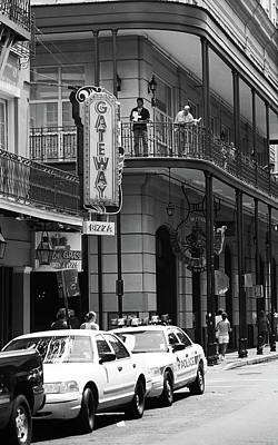 Photograph - New Orleans Streets 2004 #4 Bw by Frank Romeo