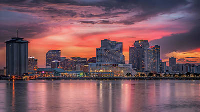 Photograph - New Orleans Sunset by Susan Rissi Tregoning