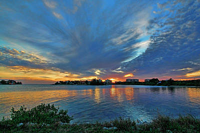 Photograph - New Pass Sunset by HH Photography of Florida