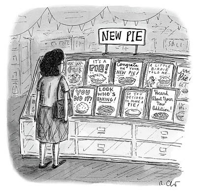 Gift Drawing - New Pie by Roz Chast