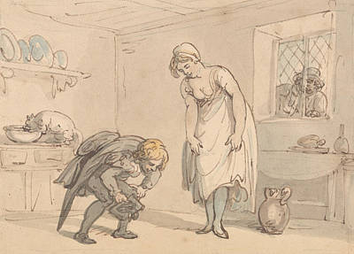Drawing - New Shoes by Thomas Rowlandson