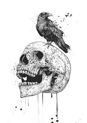 Drawing - New Skull by Balazs Solti