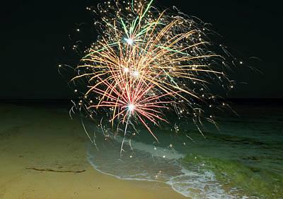 Photograph - New Years Eve By The Seashore In Dreamland 2 by Johanna Hurmerinta