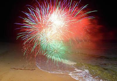 Photograph - New Years Eve By The Seashore In Dreamland by Johanna Hurmerinta