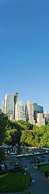Photograph - New York Banner Blue Midtown Manhattan by Fotovoyager