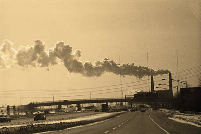 Photograph - New York City 1982 Sepia Series - #11 by Frank Romeo