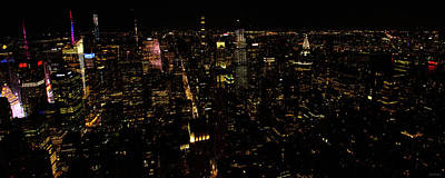 Photograph - New York City At Night by Crystal Wightman