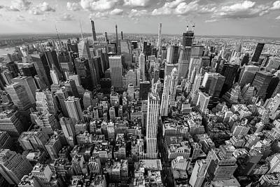 Photograph - New York City Black White by Crystal Wightman