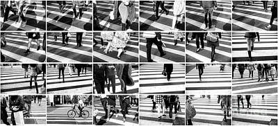 Photograph - New York City Crossings Collage by John Rizzuto