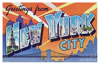 Photograph - New York City Greetings - Version 2 by Mark Miller