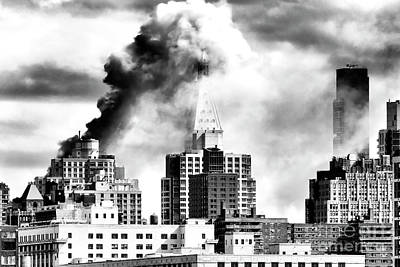 Photograph - New York City On Fire by John Rizzuto