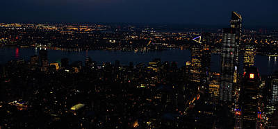 Photograph - New York City Skyline At Night by Crystal Wightman