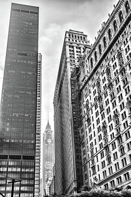 Photograph - New York City Skyscrapers Black And White by Sharon Popek